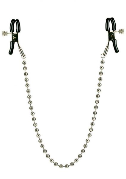Nipple Clamps – Silver Beaded