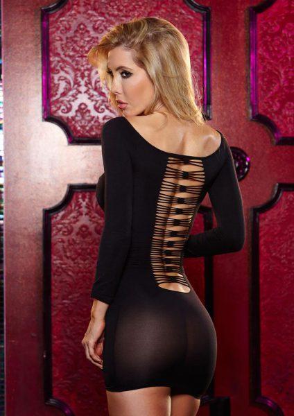 Thru The Wire Mini Dress - Black