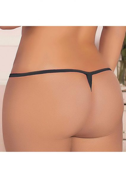 Madame Butterfly Thong - Black - X
