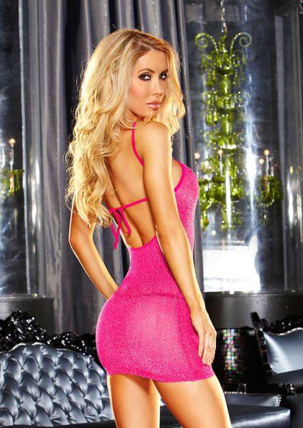 Vip Mini Dress - Pink Metallic