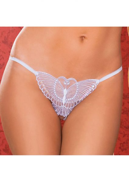 Madame Butterfly Thong – White – O/s
