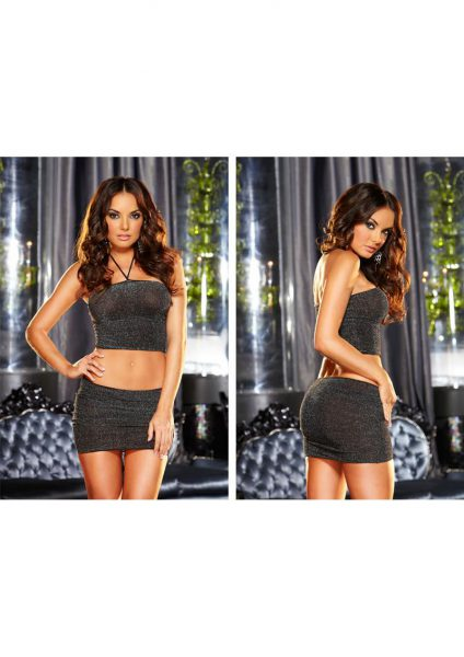 Vip Mini Skirt Set-black