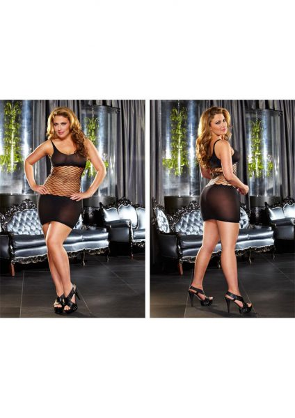 Fencenet Mini Dress - Black-plus