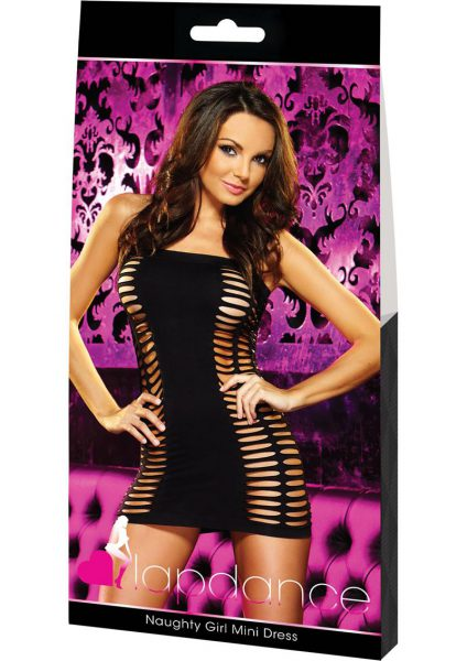Naughty Girl Mini Dress-black