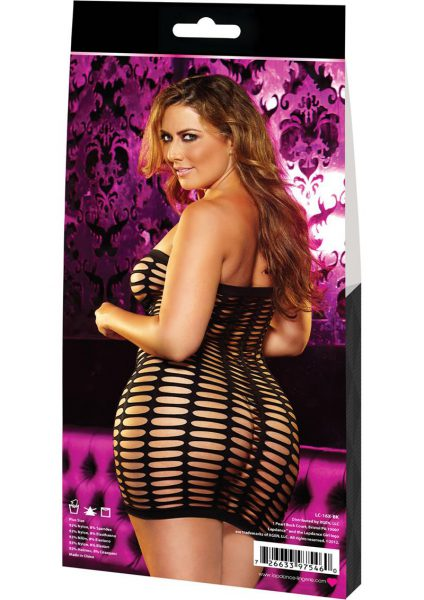Naughty Girl Mini Dress-black -plus