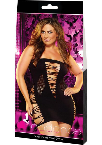 Backroom Mini Dress-black-plus