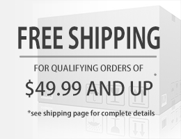 Free Shipping all orders $49.99 and up