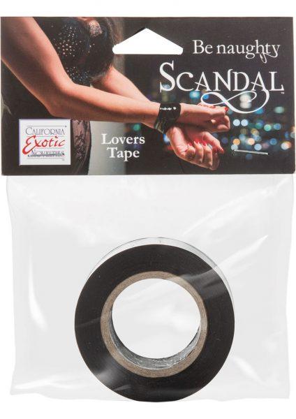 Scandal Be Naughty Lovers Tape Restraint Black 4 Feet