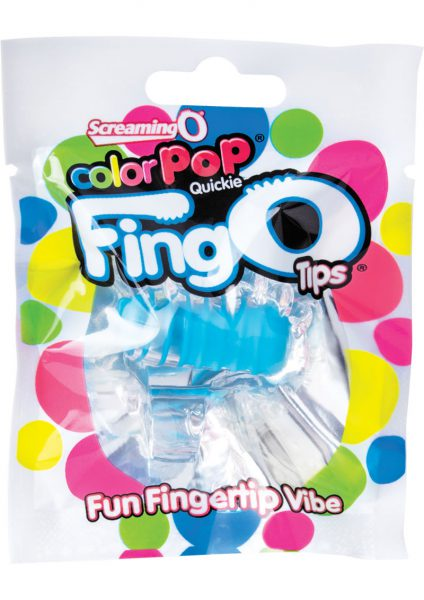 Color Pop Quickie Fing O Tips Fingertip Vibes Blue 12 Each Per Box