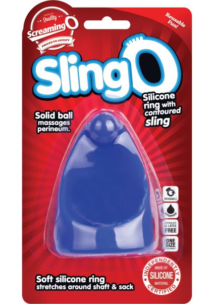 Sling O Silicone Ring With Contoured Sling Waterproof Blue 6 Each Per Box