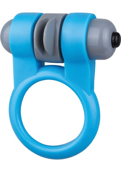 Screaming O Sport Vibrating Cockring Waterproof Blue 6 Each Per Box