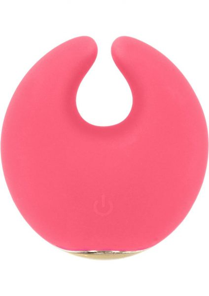 Rianne S Moon Rechargeable Silicone Clitoral Stimulator Waterproof Coral Rose