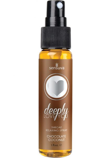 Deeply Love You Throat Relaxing Spray Chocolate Coconut 1 Fl Oz