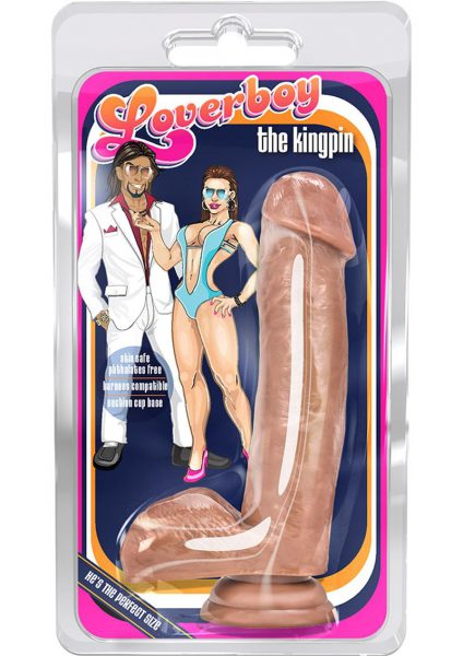 Loverboy The Kingpin Realistic Dildo Brown 7 Inch