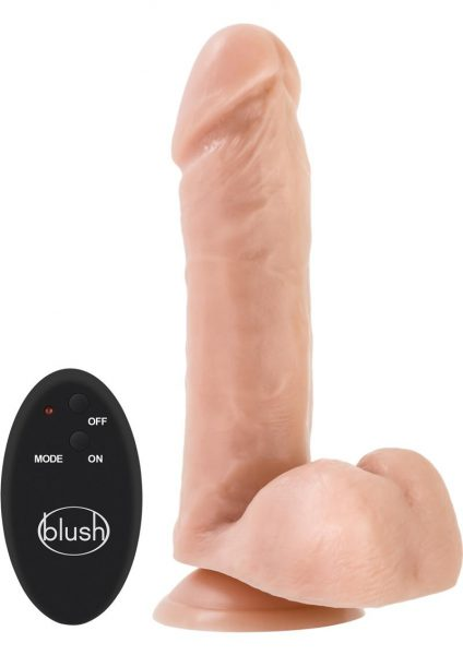 Dr. Skin 10 Function Wireless Remote Dildo Splash Proof Beige 8 Inch