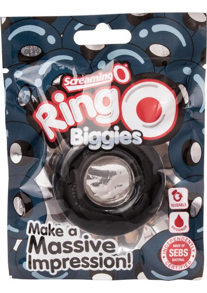 Ringo Biggies Cock Ring Waterproof Black