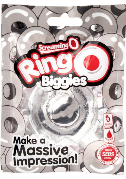 Ringo Biggies Cock Ring Waterproof Clear