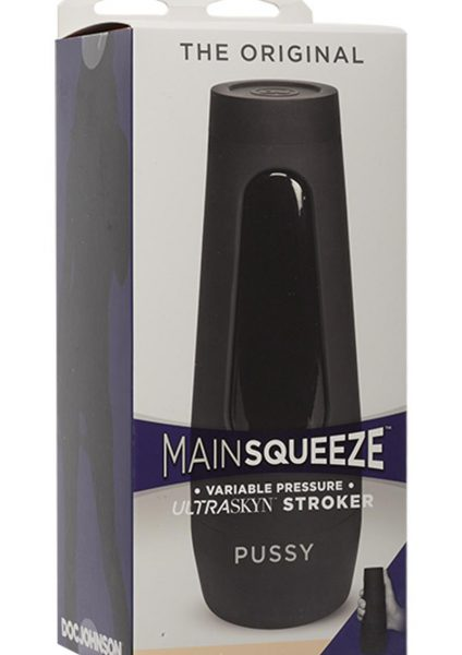 Main Squeeze The Original Ultraskyn Stroker Pussy Masturbator Vanilla 7.5 Inches