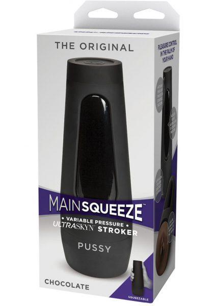 Main Squeeze The Original Ultraskyn Stroker Pussy Masturbator Chocolate 7.5 Inches