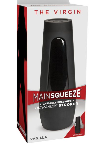 Main Squeeze The Virgin Ultraskyn Stroker Pussy Masturbator Vanilla 7.5 Inches