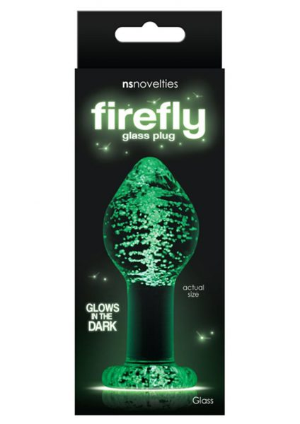 Firefly Glass Glow In The Dark Plug Large Clear 4 Inch
