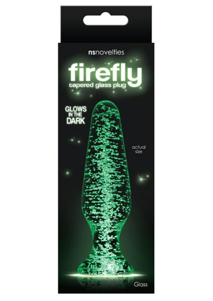 Firefly Glass Glow In The Dark Tapered Plug 4.5 Inch