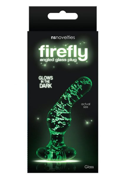 Firefly Glass Glow In The Dark Angled Plug 3.5 Inch
