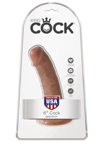 King Cock Realistic Dildo Waterproof Tan 6 Inch
