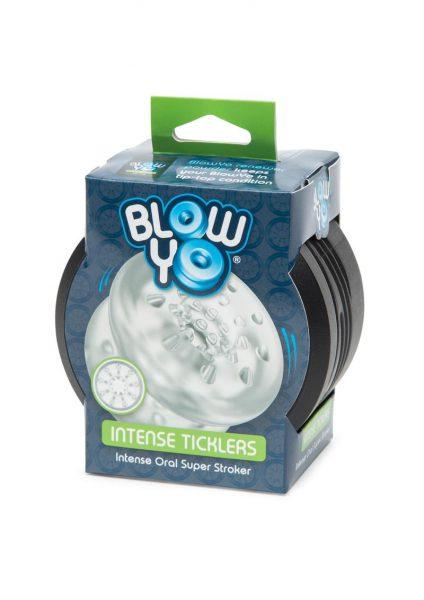 Blow Yo Intense Ticklers Intense Oral Super Stroker Clear