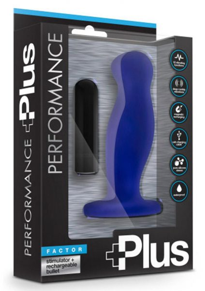 Performance Plus Factor Indigo Prostate Stimulator Waterproof