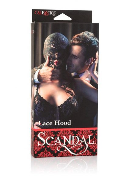 Scandal Lace Hood Black