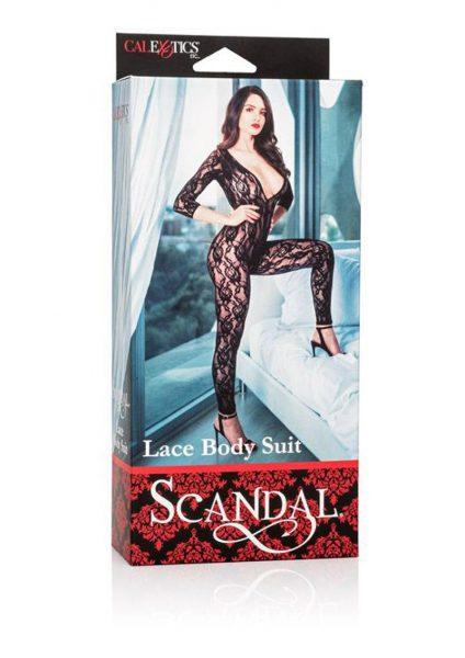 Scandal Lace Body Suit Black