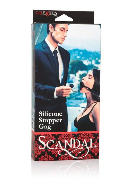 Scandal Silicone Stopper Gag Adjustable Black