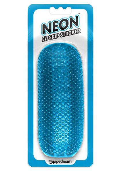 Neon EZ Grip Stroker Textured Masturbator Blue