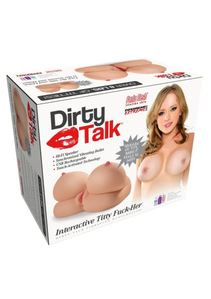 Pipedream Dirty Talk Interactive Titty Fuck Her Vibrating Masturbator Flesh
