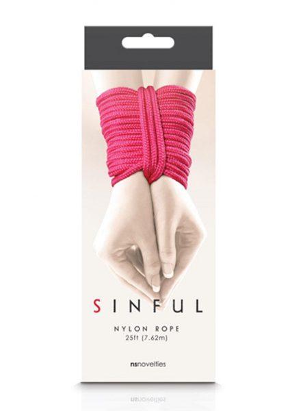 Sinful Nylon Rope Pink 25 Feet