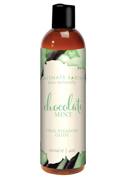 Intimate Earth Natural Flavors Glide Chocolate Mint 4 Ounces