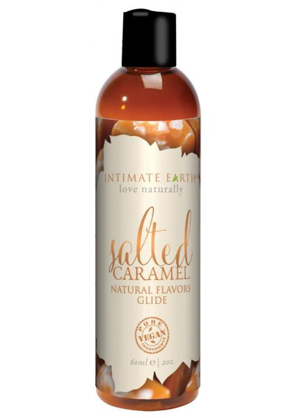 Intimate Earth Natural Flavors Glide Salted Caramel 2 Ounces