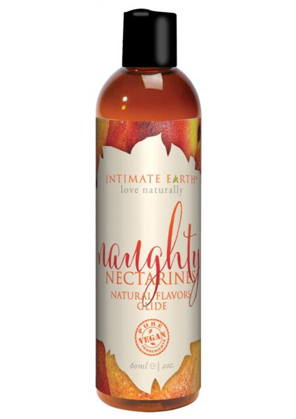 Intimate Earth Natural Flavors Glide Naughty Nectarines 2 Ounces