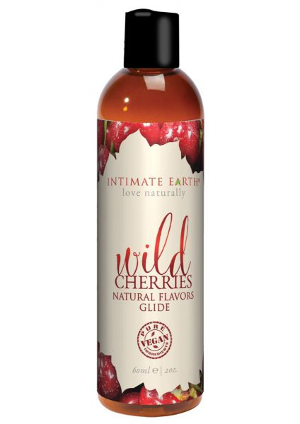 Intimate Earth Natural Flavors Glide Wild Cherries 2 Ounces