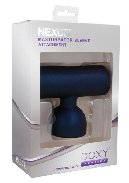 Doxy Number 3 Masturbator Sleeve Attachment Silicone Black