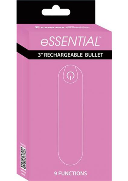 Essential Power Bullet Rechargeable Waterproof Pink