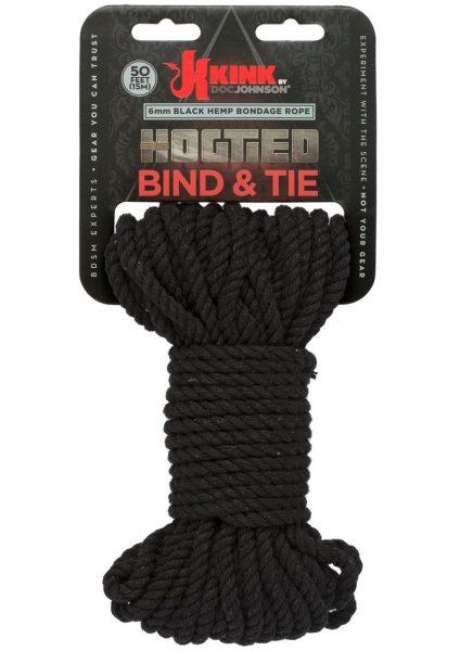Kink Hogtied Bind And Tie 6mm 50` Black