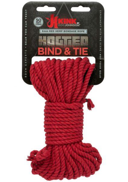 Kink Hogtied Bind And Tie 6mm 50` Red