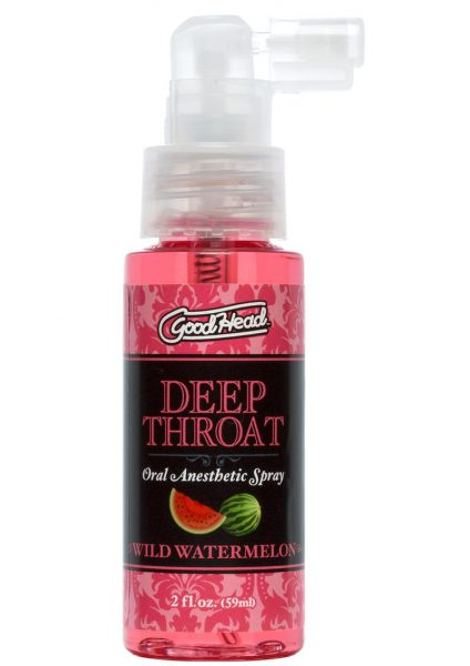 GoodHead Deep Throat Oral Anesthetic Spray Wild Watermelon 2 Ounce