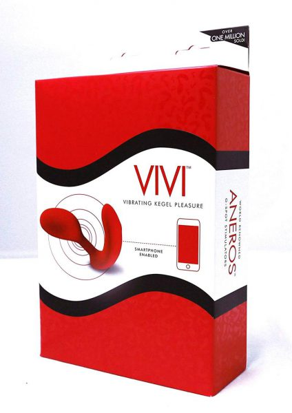 Vivi  Vibrating Kegel Exerciser Red Silicone G-Spot Stimulator