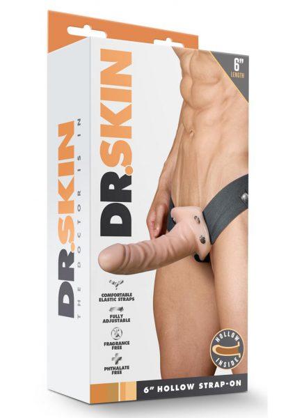 Dr. Skin Hollow Strapon Non Vibrating Flesh 6 inch