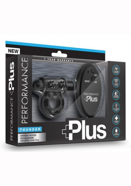 Performance Plus Thunder Cockring Black Multi Function Remote Control
