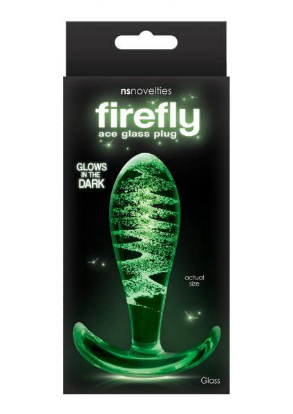 Firefly Ace Glass Plug Glows in the Dark Clear