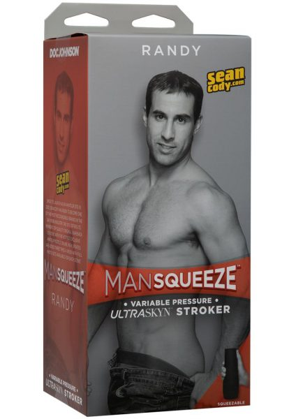 Man Squeeze Randy UltraSkyn Stroker Realistic Anus Vanilla 9 Inches
